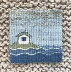 Four selvedge tapestry by Sarah Swett