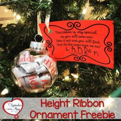 Height Ribbon Ornament Freebie This Height Ribbon Ornament Is The Happy New Year Kids Christmas Ornaments, Preschool Christmas, Christmas Ribbon, Christmas Activities, Christmas Crafts For Kids To Make At School, Diy Christmas Gifts For Parents, Preschool Classroom, Christmas Holiday, Student Christmas Gifts