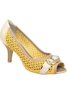Gente! lindo!! <3   Peep toe Piccadilly amarelo  encontre aqui  http://ift.tt/2agpqr8