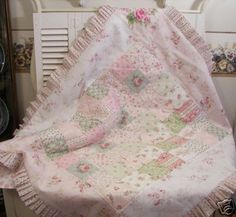 Shabby chic quilt, perfect for that upcoming baby girl hmmmm