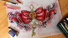 Chest tattoo i'd like this on my lower leg c: