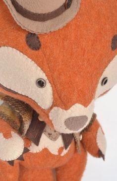 Art Toy Sherlock Fox par MarieChou sur Etsy