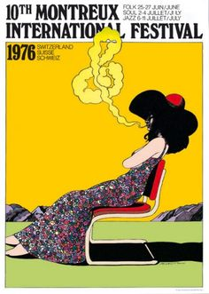 Montreux Festival, Milton Glasser #poster #art #graphicdesign