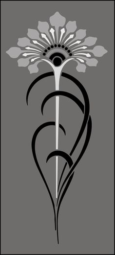Click to see the actual DE262 - Motif No 72 stencil design.