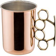 Old Dutch International Moscow Mule 20 oz. Brass Knuckle Mug || I bet @shannonlaine will appreciate these