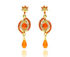 NEW HOT WEDDING PARTY WEAR BOLLYWOOD STYLE INDIAN DROP  EARRINGS GOLD JEWELRY  #REEMAJEWELS #DropDangle