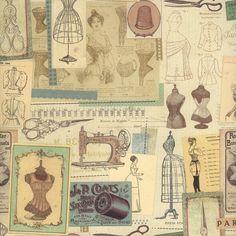 Vintage Parisian Atelier Collage Italian Paper ~ Kartos Italy