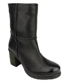 Look what I found on #zulily! Black Arctic Leather Bootie #zulilyfinds