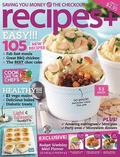 recipes+ - September 2013 #magazines #magsmoveme  http://food.ninemsn.com.au/recipes-plus