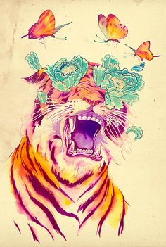 janese tiger tatoo inspiration....  oooo <3!  if i ever get another, this might be pretty close!