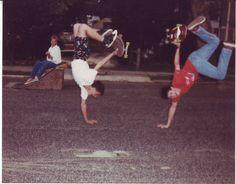 Skateboarding on Pierson Avenue