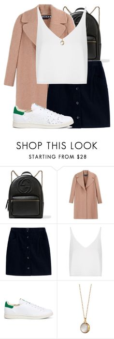 """""""Untitled #1485"""" by triskid ❤ liked on Polyvore featuring Gucci, Rochas, A.P.C., Topshop, adidas and Monica Rich Kosann"""