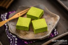 I might try this for Valentine's Day… Green Tea Chocolate | Easy Japanese Recipes at JustOneCookbook