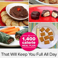 If you're watching your calorie intake, this meal plan takes all the guesswork out of the equation! Full of ingredients you need to stay healthy and satisfied throughout the day, it only contains 1,400 calories — perfect for a weight-loss