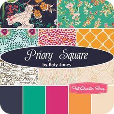 Priory Square Fat Quarter BundleKaty Jones for Limited Edition of Art Gallery Fabrics - Fat Quarter Bundles | Fat Quarter Shop