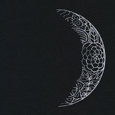 Luna - Waxing Crescent Moon design (UT9671) from UrbanThreads.com