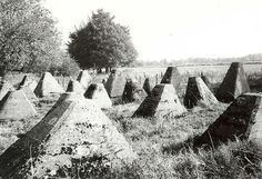 "The row of tank obstacles called ""Dragon's Teeth"" in front of the Siegfried Line on the French/German border during World War II.    Included in the book, Blinded by His Shadow"