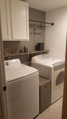 If your laundry room is on the smaller size, you know that utilizing every inch of space is important. First, make a point to keep the clutter and piles of dirty clothes to a minimum; letting even little messes pile up can quickly make the room look and feel smaller than it is. Your home can't operate efficiently without cleaning products and other household essentials, so start the organization process by giving them designated areas. Try these 12 Brilliant Ways to Organize a Small Laundry