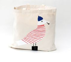 Seagull Tote Bag by PrintMaison on Etsy, $60.00