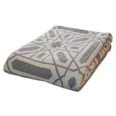 Add a pop of pattern to your sofa or bed with this eco-friendly throw. Made from recycled cotton.  Product: ThrowConstruction Material: 80% Recycled cotton and 20% acrylicColor: Dove Features: Made in the USAEco-friendly Dimensions: 50 x 60Cleaning and Care: Machine wash and dry on low
