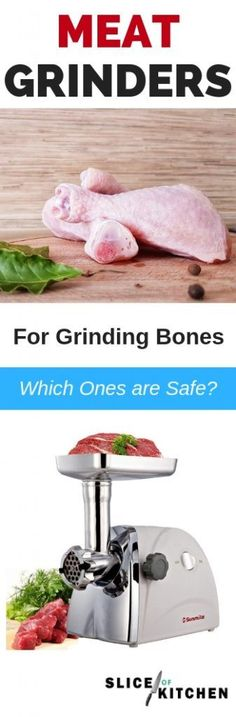 In this guide I've handpicked 5 of my favorite meat grinders that are powerful enough to grind bones. Use them to grind chopped animal bones to make nutritious raw food for your dogs, bone meals for your plants, and of course all the other delicious ground recipes for your family such as ground burgers. Click to read Best Meat Grinder for Grinding Bones (Must Read for Safety). #bestmeatgrinder #meatgrinder #grinder #grinding #grindingmachine #kitchentools #sliceofkitchen