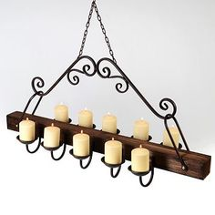Outdoor chandelier for my pergola for the home pinterest rustic hanging candle chandelier aloadofball Gallery