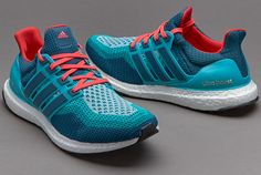 adidas Ultra Boost - Clear Green / Mineral / Shock Red