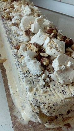 Gelato, Food To Make, Oatmeal, Food And Drink, Ice Cream, Cookies, Breakfast, Cake, Desserts