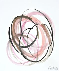 Tutorial for creating watercolor abstract art that's perfect for framing. The Creativity Exchange