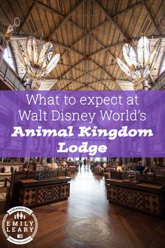 The entire Animal Kingdom Lodge is modelled on African architecture and design, combining rich decor and lots of ornate, hand-carved furniture.