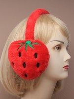 Winter is here, wrap up warm with these cute Strawberry earmuffs!