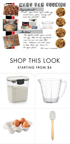 """""""Mars bar cookies"""" by blueeyed-dreamer ❤ liked on Polyvore featuring interior, interiors, interior design, home, home decor, interior decorating, Crate and Barrel, Anchor Hocking, Juliska and Cooks Tools"""