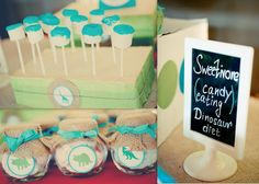 These were actually from the party of a friend of my 3-yr old - what a talented mom!  Color-sugar dipped marshmallows, cotton candy in individual jars covered with burlap and coordinating labels - pretty and creative!