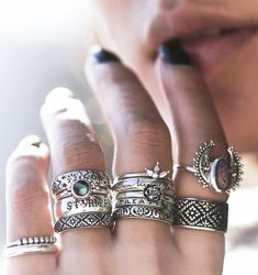 ❉ Bohemian Shop Dixi Rings from our Sunset Lovers collection in store now! Bohemian Jewellery, Hippie Jewelry, Fine Jewelry, Jewellery Box, Silver Jewellery, Enamel Jewelry, Cheap Jewelry, Gothic Jewelry, Vintage Jewelry