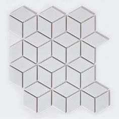 The Price Displayed Above is Per Sheet.Colour: White Material: Porcelain Finish: Matt Sheet Size (cm): x Thickness (mm): Suitability: Wall & FloorN° of Sheets To Cover A Square Metre SheetsAvailability: In Stock White Mosaic Tiles, White Wall Tiles, Cubes, White Porcelain Tile, Tiles Direct, Splashback Tiles, Trucks Only, Geometric Tiles, Industrial