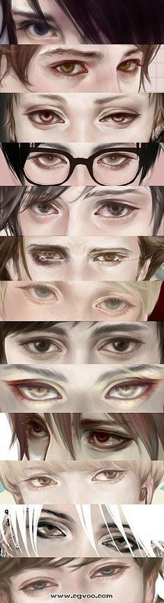 CG插画教程|写实人物眼睛画法_CG窝