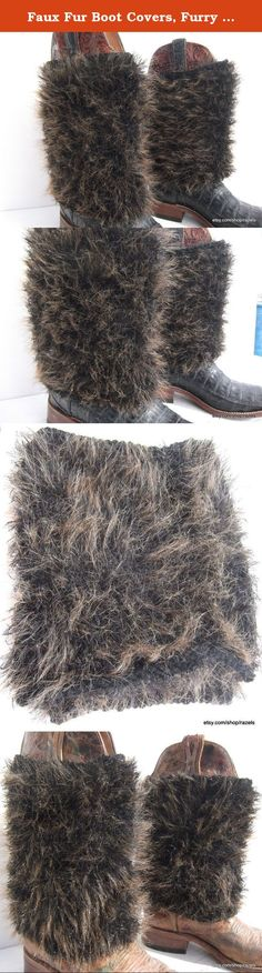"Faux Fur Boot Covers, Furry Boot Covers, COWGIRL STYLE, HAND MADE FASHION BOOT COVERS. For all you fashionista's out there, I'm super excited to introduce my hand knit boot covers! Turning the drab into fab~~If you're anything like me, you love your boots, but want to add a little pizzazz every now and then! These Brown Pelt Boot Covers are quite possibly the ideal boot accent! Wear them with skirts, shorts, leggings...the options are endless! Boot Covers Measure unstretched; 10"" Length…"