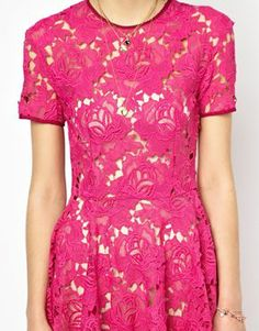 Enlarge House of Holland Lace Boater Dress