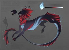 Ref sheet commission for Psithur Mythical Creatures Art, Alien Creatures, Mythological Creatures, Magical Creatures, Fantasy Creatures, Creature Concept Art, Creature Design, Dragon Anatomy, Dragons