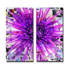 Painted Petals LXVII 2 Piece Graphic Art on Canvas Set