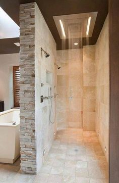 love the dual shower heads and rain shower overhead.