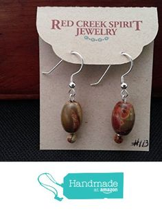Red Creek Jasper Earrings from Red Creek Spirit Jewelry http://www.amazon.com/dp/B016B2GK04/ref=hnd_sw_r_pi_dp_4wBgwb1WD469T #handmadeatamazon