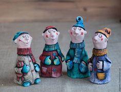 Гномы. - гном,гномик,человечки,человечек,Керамика,смешная игрушка,интерьерная кукла