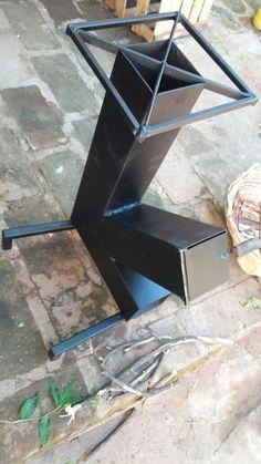 Cocina cohete Rocket Stoves, Welding Projects, Drafting Desk, Metal Working, Diy, Furniture, Ideas, Home Decor, Log Burner
