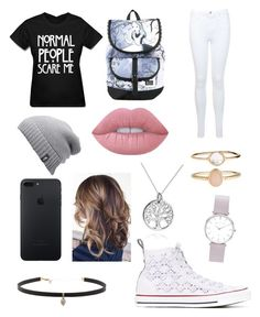 """""""Party"""" by gervaise-kelly on Polyvore featuring Miss Selfridge, Converse, Disney, The North Face, Carbon & Hyde, Accessorize, Abbott Lyon, Lime Crime and AeraVida"""