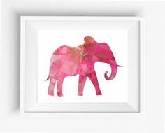 Elephant Prints,Polygonal Elephant ,Geometric Elephant  Art Wall Print, Low Poly,Geometric Animal Prints, Elephant digital prints,
