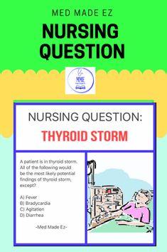Nursing Questions, Medical Questions, Nclex, Thyroid, Nurses, Make It Simple, Mad, Rock, Education