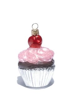 Beautifully Sweet Pink Strawberry Cupcake Ornament - Ornament Reviews