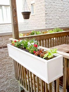 DIY flower boxes- think we'll do this on the front deck.