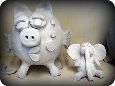 "Clay ""piggy"" banks"